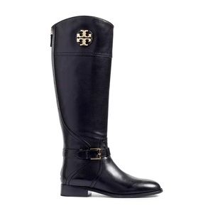 Tory Burch Adeline Riding Boots in black